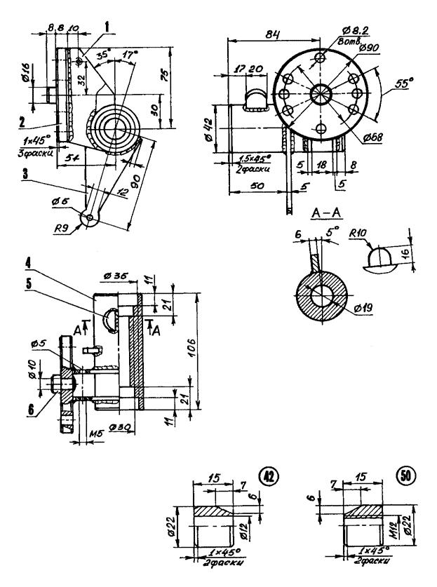 Схема угловых и линейных